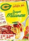 Začin za špagete milanese