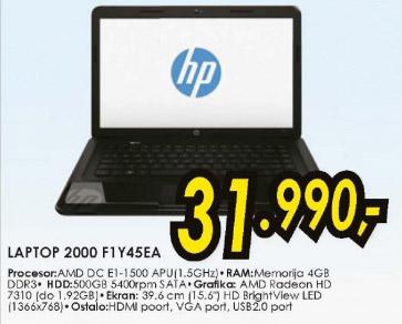 Laptop 2000 F1Y45EA