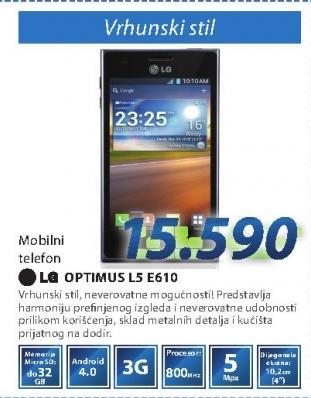 Mobilni telefom Optimus L5 E610