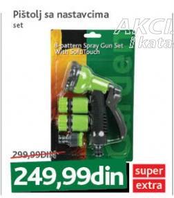 Pištolj za crevo sa dodacima