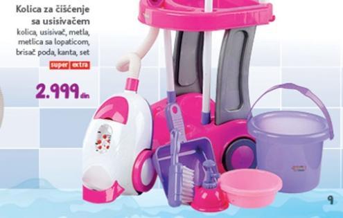 Igračka kolica za čišćenje