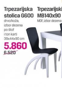 Trpezarijska stolica G600