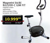 Magnetni bicikl B22200-C Gim Fit