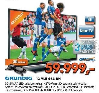 """Televizor LED 42"""" Vle 983 Bh"""