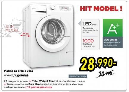 Mašina za pranje veša W6402/s