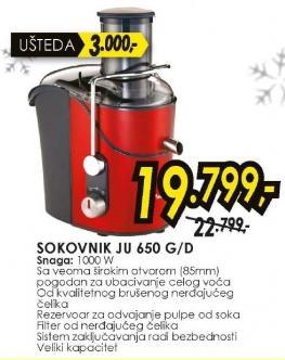 Sokovnik JU 650 G/D