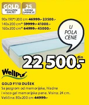 Dušek Gold F110 90x190/200cm