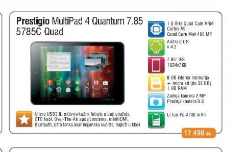 Tablet Multipad 5785C