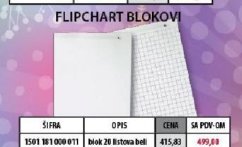 Flipchart blokovi