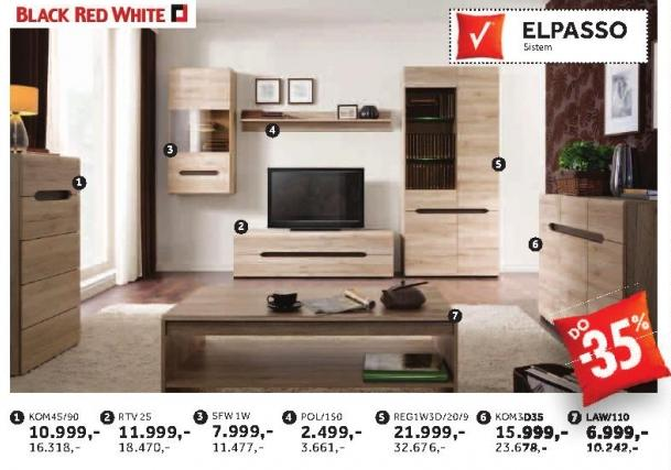 Komoda Kom3d3s Elpasso Black Red White