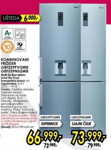 Kombinovani frižider Gbf539pvqwb