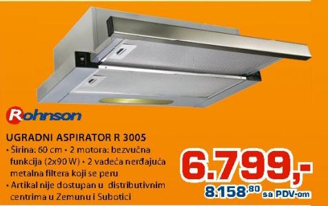 Ugradni Aspirator R 3005