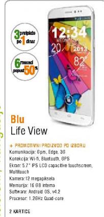 Mobilni telefon Life View, BLU