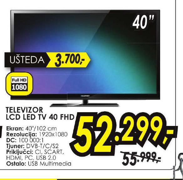 LED LCD 40 TV FHD