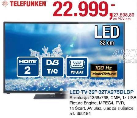 """Televizor LED 32"""" 32tx275dlbp"""