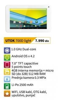 Tablet 700d Light Utok