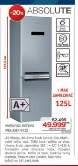 Frižider Wba 3387 Nfc ix