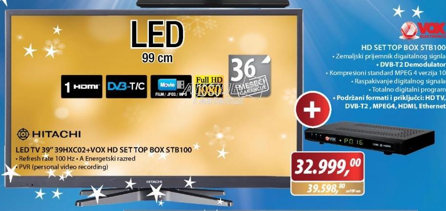 Televizor LED 39HXC02