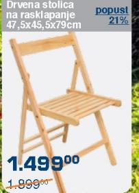 Drvena stolica na rasklapanje