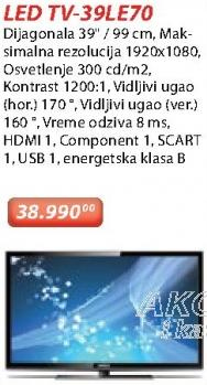 "Televizor LED 39"" 39LE70"