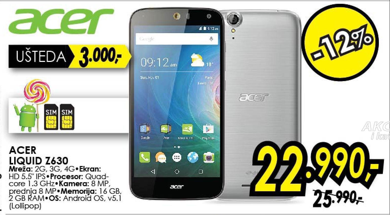 Mobilni telefon Liquid Z630