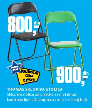 Sklopiva stolica Thomas, zelena
