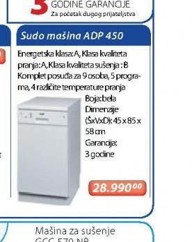 Sudomašina ADP 450 IX