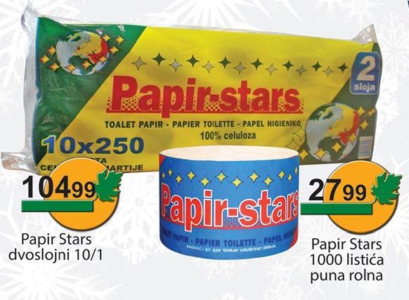 Toalet papir Stars 2sl