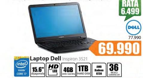 Laptop Inspirion 3521