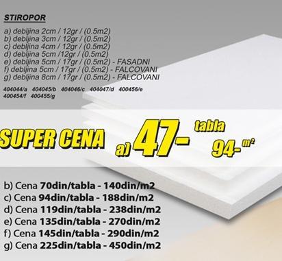 Stiropor 2cm