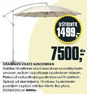 Suncobran viseći Drammen