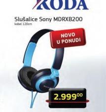 Slušalice MDR-XB200