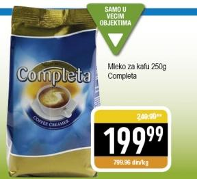 Dugotrajno mleko za kafu