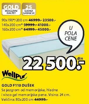 Dušek Gold F110 160x200cm