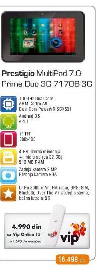 Tablet  Multipad 7170B