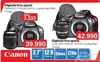 Digitalni fotoaparat Eos 1100D Kit 18-55 II + Poklon Gadget Bag Eg300 + Knjiga