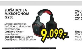 Gejmerske slušalice sa mikrofonom G230