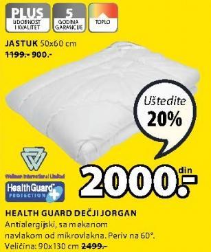 Jastuk Dečji Health Guard 50x60cm