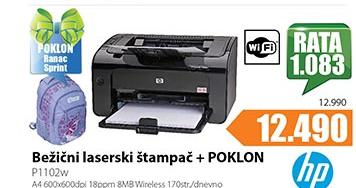 Bežični laserski štampač P1102W
