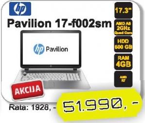 Laptop Pavilion 17-f002sm