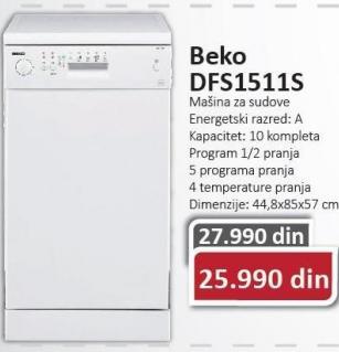 Mašina Za Sudove DFS 1511 S