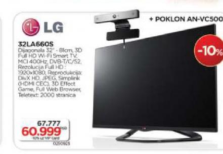 Televizor 3D LED LCD 32LA660S