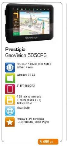 Navigacija Geovision 5050Rs