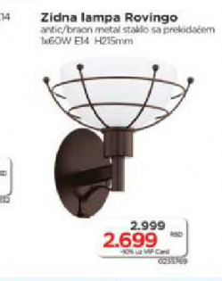 Zidna lampa Rovingo