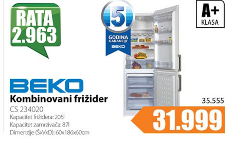 Kombinovani frižider CS 234020
