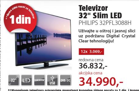 Televizor LED 32PFL3088H