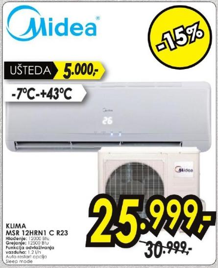 Klima uređaj Msr 12hrn1 C R23