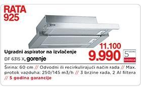 Ugradni aspirator Df 6315 x