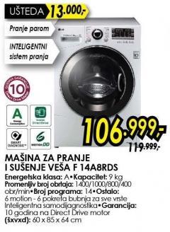 Mašina za pranje i sušenje veša F 14a8rds