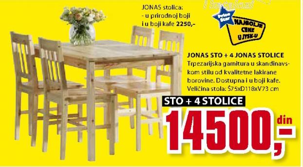 Trpezarijska stolica Jonas